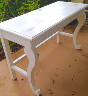 Rustic Shabby Chic White Distressed Entrance Buffet Console Table for Sale in Pompano Beach, FL