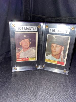 TOPPS Mickey Mantle & Roger Maris 1961 Baseball Cards for Sale in Allentown, PA