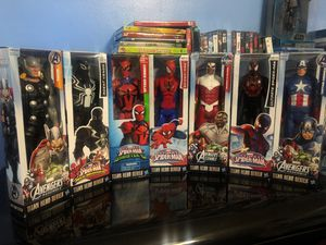 Marvel Avengers and ultimate Spider-Man Titan Hero Series Figurines - 12 Inch for Sale in Miami, FL