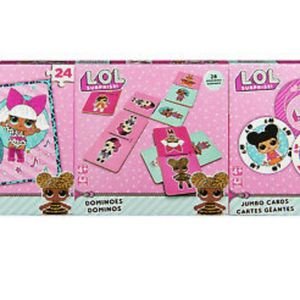 L.O.L. Surprise! 3-Pack Bundle Jumbo Cards, Dominoes, Jigsaw Puzzle Sealed New for Sale in Hollywood, FL