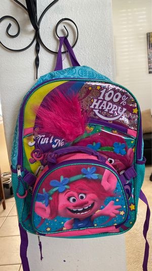 Bookbag and lunchbox set (Trolls) for Sale in Brandon, FL