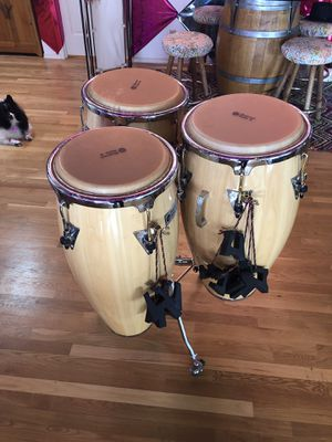 LP Performer Series 3-Piece Conga Drum Set /w Stand for Sale in Portland, OR