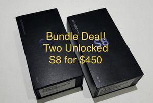 Two Samsung Galaxy S8 phones both Unlocked for Sale in Deerfield Beach, FL