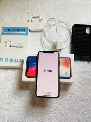 iPhone X - Space Gray, 256GB, Unlocked , Used with Box and Accessories for Sale in Jersey City, NJ