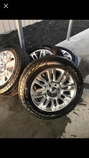 "20"" Ford factory Rims and tires ! 6x135 Bolt pattern Wheels Ford F-150 Rines y Llantas Take offs off takeoffs pull pulloffs stock stocks factory ori for Sale in Dallas, TX"