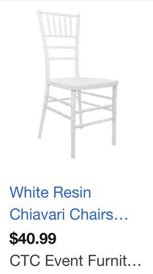 200 White resin Chiavari Chairs for sale for Sale in Santa Ana, CA