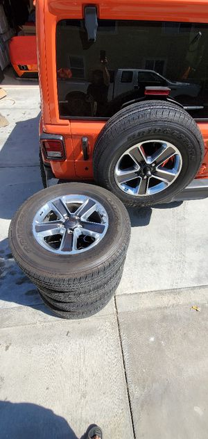 """JL WRANGLER 18"""" WHEELS WITH TIRES for Sale in Stanton, CA"""