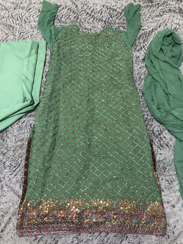 Pakistani Indian shalwar kameez outfit fancy party wedding henna outfit dress