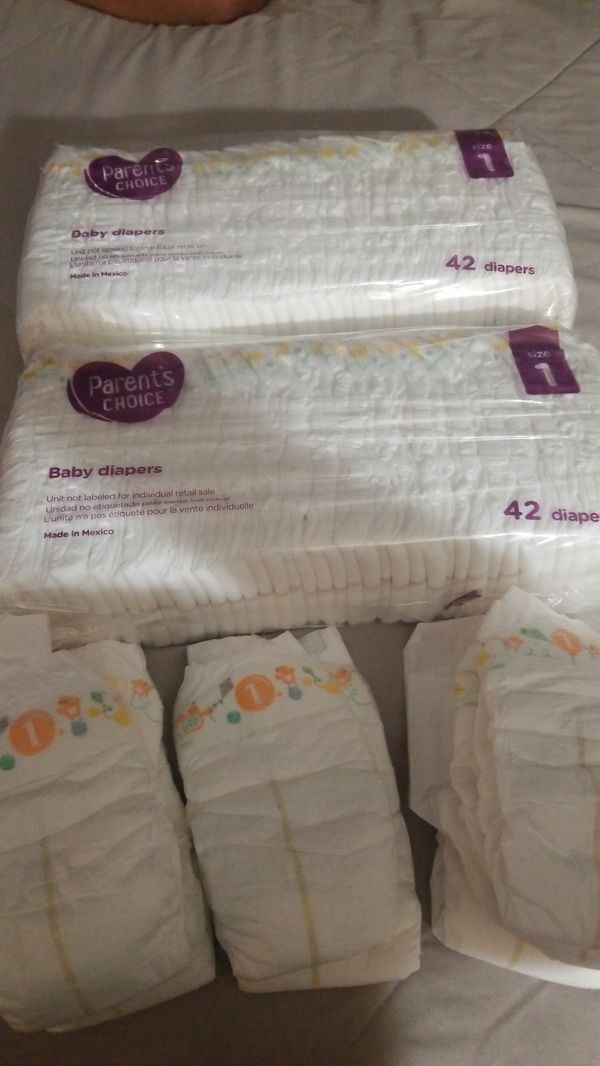 92 size 1 parent choice diapers