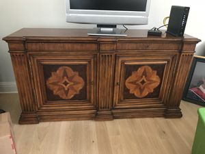 Antique Wood Buffet Table / TV Stand for Sale in Sewell, NJ