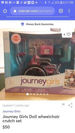 Journey Girls wheelchair &crutch set for Sale in Renton, WA