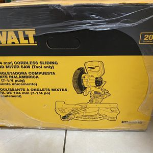 DeWalt Cordless Sliding Compound Miter Saw for Sale in Hollywood, FL