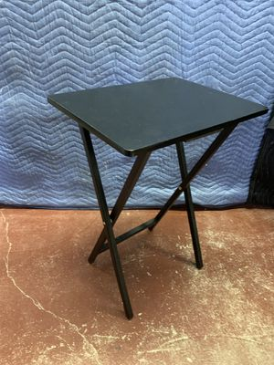 1 Single Black Tv Tray Dinner Table Folding Couch Table for Sale in Lauderdale Lakes, FL