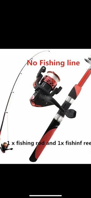 Fishing rod, reel and line for Sale in Irving, TX