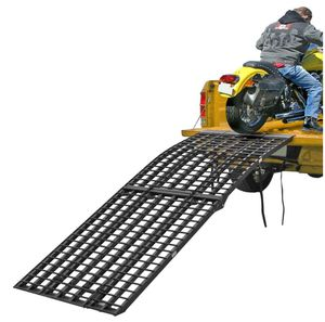 Black widow motorcycle ramp 3 piece 1200lbs capacity . Includes all straps to secure to truck for loading for Sale in Torrance, CA