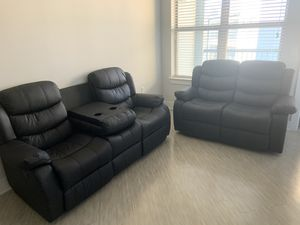 Movie style leather couches for Sale in Richardson, TX