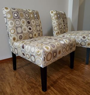 Like New 2 x Beautiful Accent Chairs ...$ 75 for both for Sale in Marysville, WA