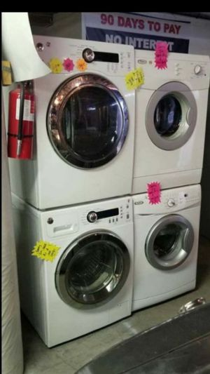 🍍🍒🍊!!Huge Sale store full of nice reconditioned refrigerator washer dryer stove stackable+financing available available free warranty for Sale in Seattle, WA