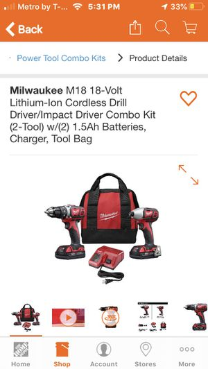 BRAND NEW MILWAUKEE drill/driver set for Sale in Fresno, CA