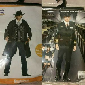 Mens (M) mile high pilot and (L) cowboy easy last minute Halloween costume. for Sale in Alexandria, VA