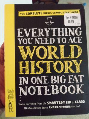 Big fat notebook history for Sale in Buffalo Grove, IL