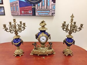 Imperial Brevettato clock & candelabra for Sale in West Palm Beach, FL
