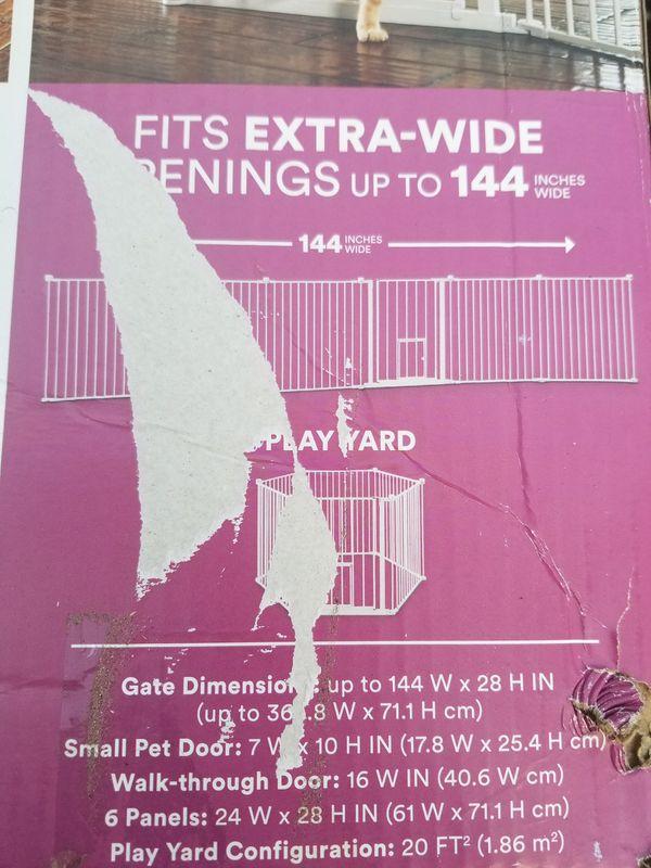 """28""""h x 144"""" pet gate"""