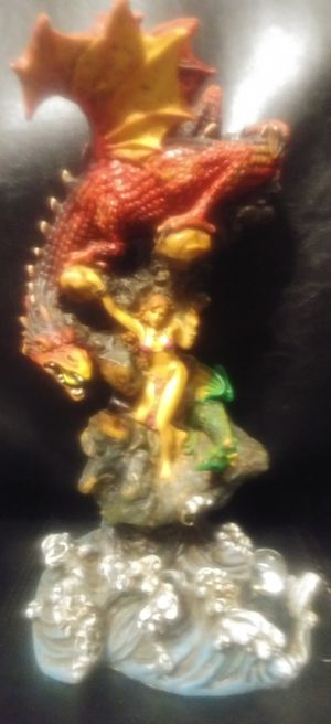 Dragon statue with women for Sale in Amherst, VA