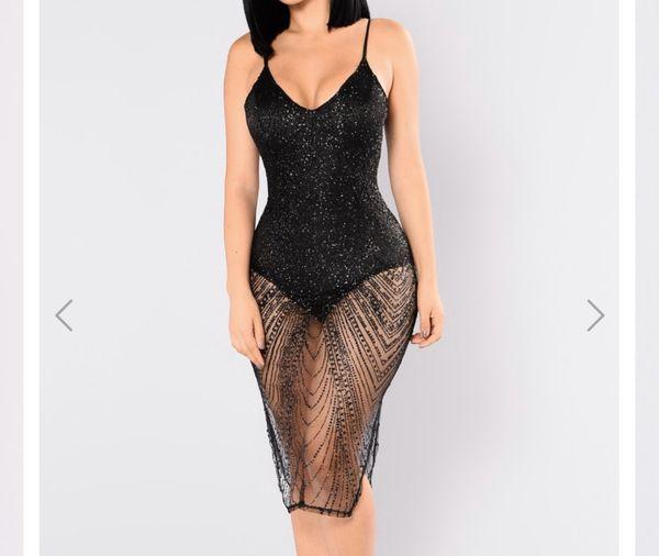 Night out black dress size xs