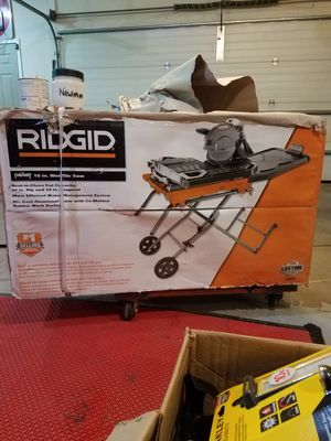 Ridgid the beast 10' wet tile saw for Sale in Rochester, MN