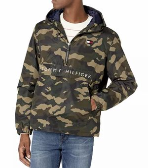 Tommy Hilfiger Men's Performance Fleece Lined Hooded Popover Jacket Camo NWT for Sale in French Creek, WV
