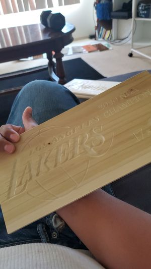 Lakers wood sign engraved for Sale in Spokane, WA
