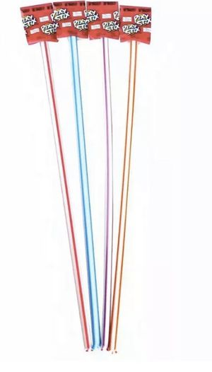 25 GIANT WONKA PIXY STIX 15 INCHES TALL SUGAR STRAW CANDY ASSORTED PARTY FLAVORS for Sale in Johnson City, TN