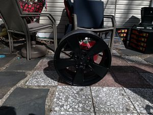 08 g8 all 4 rims plasti dipped black used for a few amazing condition for Sale in Middletown, NJ