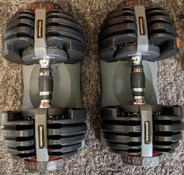 (2) Bowflex SelectTech 552 Series 1 Adjustable Dumbbells (5-52.5 lbs) for Sale in Chicago,  IL