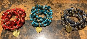 Bohemian 4 Layer Bracelet with Heart Charm for Sale in Chandler, AZ