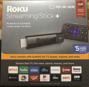 Roku Streaming Stick+ HD/4K/HDR Streaming Device with Long-range Wireless and Voice Remote with TV Controls for Sale in Orlando, FL