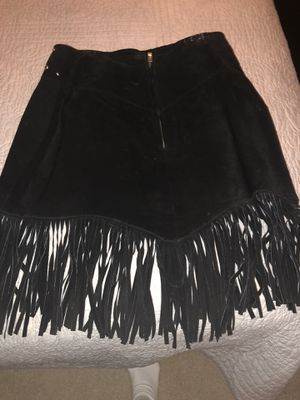 Leather skirt and halter vest and suede leather skirt with fringe... for Sale in Lynn Haven, FL