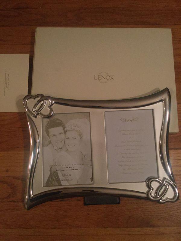 LENOX Wedding Promises Invitation Double Frame New in box