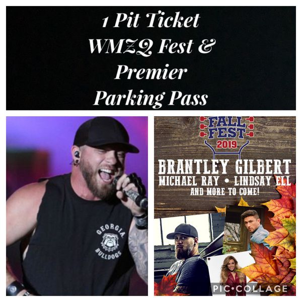 1 WMZQ Fall Fest GA Pit Ticket & Premier Parking Pass Brantley Gilbert Lindsey Ell Michael Ray 10/12 @ Jiffy Lube