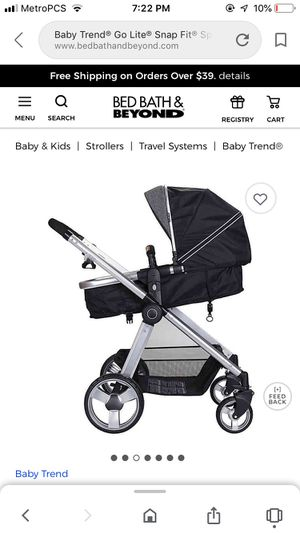 Baby trend go lite snap fit for Sale in Tacoma, WA