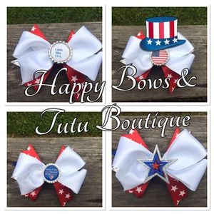 Stacked boutique bow 4th of July for Sale in Manassas, VA