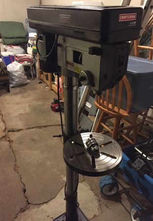 Craftsman 15 inch drill press with laser for Sale in Enfield, CT