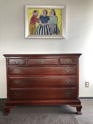 Antique Mahogany Dresser - Solid Oak Dovetail Drawers for Sale in Seattle, WA