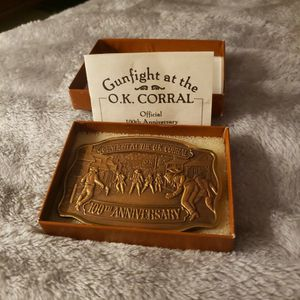 Gunfight At The Ok Corral 100th Ann.Commemorative Buckle for Sale in Maple Valley, WA