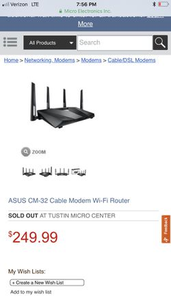 Asus modem/router combo comcast for Sale in Eastvale,  CA