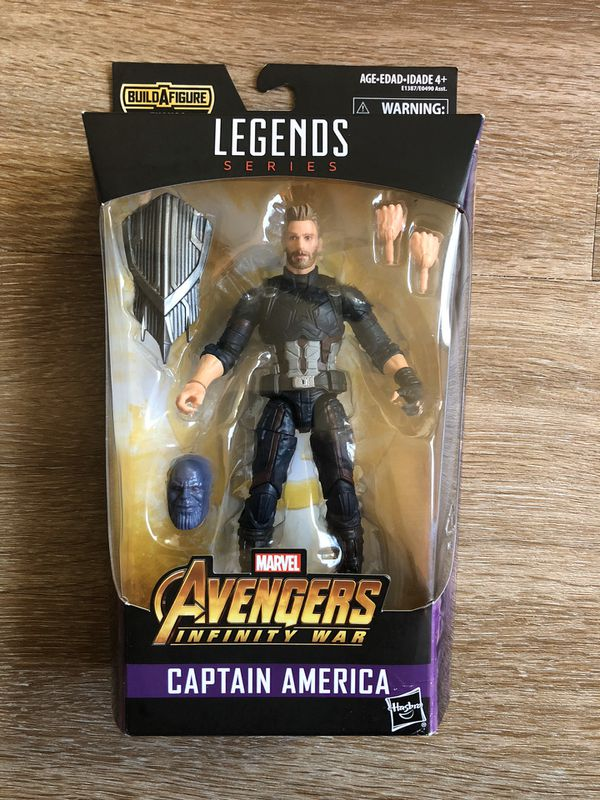 Marvel Legends: Captain America, Infinity War (Thanos BAF) Action Figure