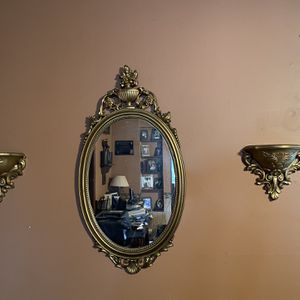 Gold Victorian mirror and small shelves. for Sale in New Columbia, PA