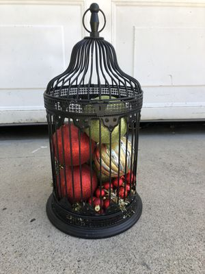 Cage with ornaments for Sale in Costa Mesa, CA
