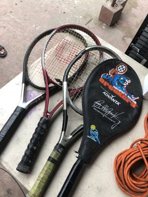 4 tennis rackets for ($10) for Sale in Long Beach, CA